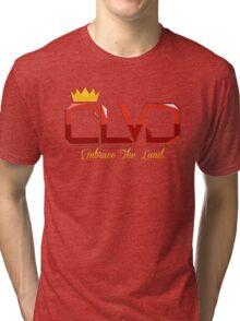 """Embrace The Land"" ROYAL TEE - CLVD® Tri-blend T-Shirt"