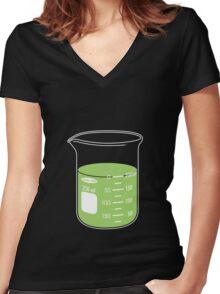 beaker elixir (lime) Women's Fitted V-Neck T-Shirt