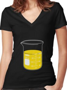 beaker elixir (lemon) Women's Fitted V-Neck T-Shirt
