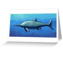 Ichthyosaurus communis Greeting Card