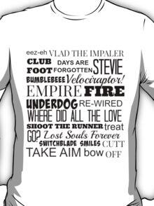 Kasabian Songs  T-Shirt