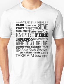 Kasabian Songs  Unisex T-Shirt