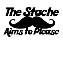 The stache aims to please Photographic Print