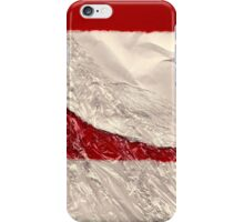 Red and white ski slope iPhone Case/Skin