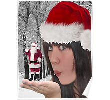 MM - JUST IMAGINE IF U COULD HAVE SANTA IN THE PALM OF YOUR HAND > CHRISTMAS WISHES PICTURE AND OR CARD ECT. Poster