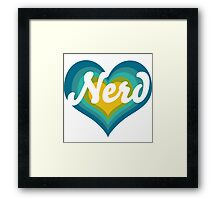 Retro NERD Framed Print