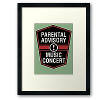 Prental Advisory Music Concert  Framed Print