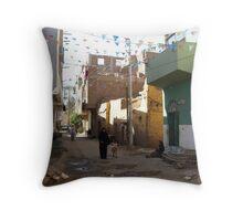 back street Throw Pillow