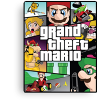 Grand Theft Mario Canvas Print