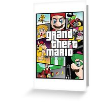 Grand Theft Mario Greeting Card