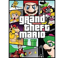 Grand Theft Mario Photographic Print