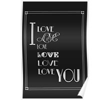 I Love You Art Deco Style Poster