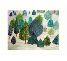 Christmas Tree Farm Art Print