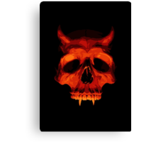 Devil Skull Canvas Print
