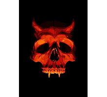 Devil Skull Photographic Print