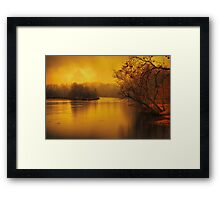 River of thought Framed Print