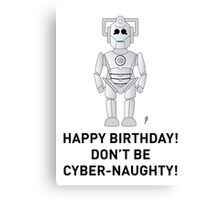 A Doctor Who themed Cyberman Card 2 Canvas Print