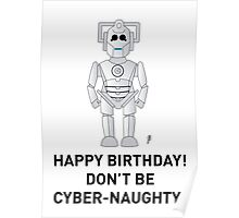 A Doctor Who themed Cyberman Card 2 Poster
