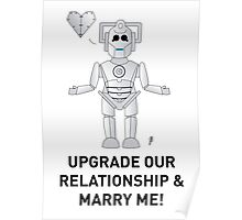 A Doctor Who themed Cyberman Card for a proposal! Poster