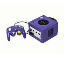 Gamecube console and controller Art Print