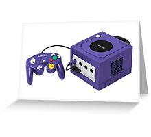 Gamecube console and controller Greeting Card