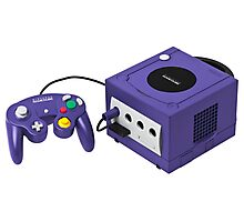 Gamecube console and controller Photographic Print