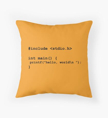 I am a geek Throw Pillow