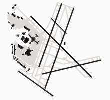 Boston Logan Airport Diagram Baby Tee
