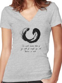 Lessons From the Earth 2 Women's Fitted V-Neck T-Shirt