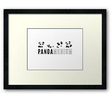 Pandamonium Framed Print