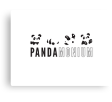Pandamonium Canvas Print