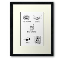 Jamie Foxx Characters Framed Print