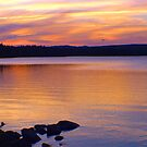Sunset from Campground near Trinity by SaraDiane