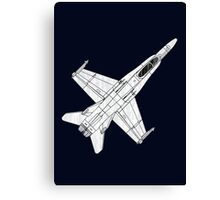 F 18 Hornet Jet Fighter Canvas Print