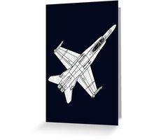 F 18 Hornet Jet Fighter Greeting Card