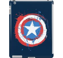 Captain America Shield Paint Splatter Design iPad Case/Skin