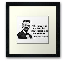 Abraham Lincoln Troll Quote Framed Print