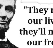 Abraham Lincoln Troll Quote Sticker