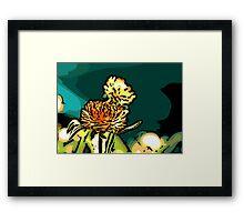 Rays - Woodcut Framed Print