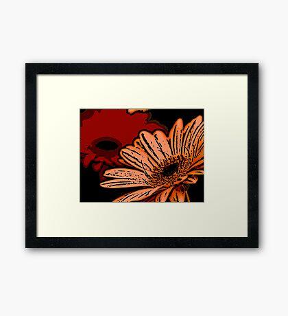 Sassy - Woodcut Framed Print