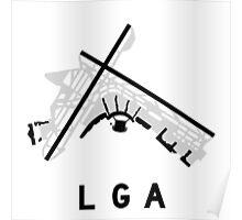 LaGuardia Airport Diagram Poster