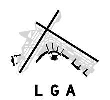 LaGuardia Airport Diagram Photographic Print