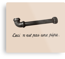 This is Not a Pipe Metal Print