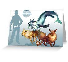 Eevee Trio Greeting Card