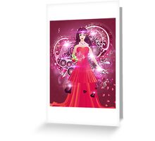 Lady in red dress 2 Greeting Card
