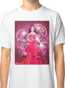 Lady in red dress 2 Classic T-Shirt