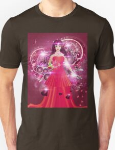Lady in red dress 2 Unisex T-Shirt