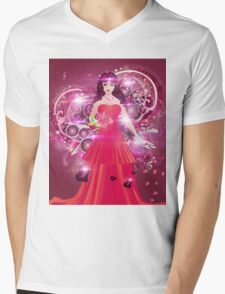 Lady in red dress 2 Mens V-Neck T-Shirt