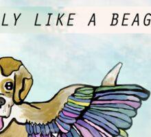 Fly Like A Beagle Sticker