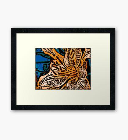 Show Off - Woodcut Framed Print